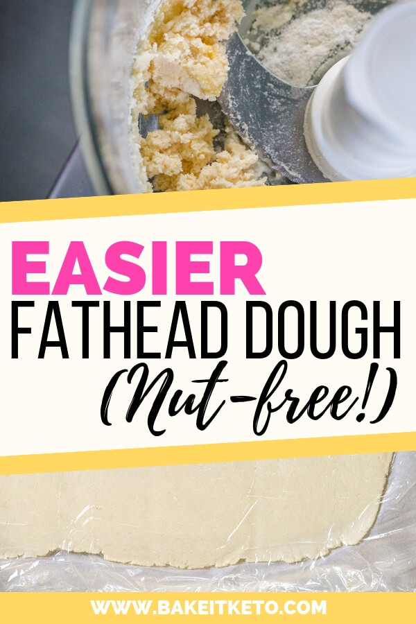 Easier nut free fathead dough with coconut flour - use to make fathead pizza.