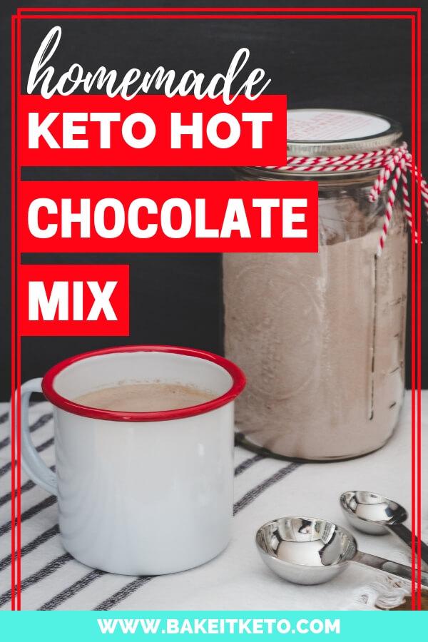 The best homemade keto hot chocolate mix recipe pin image 1