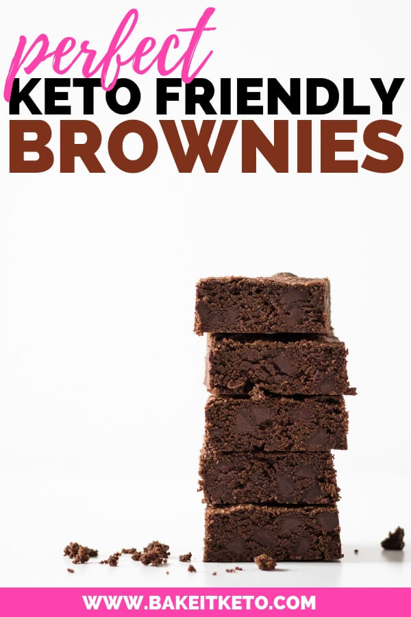 Perfect double chocolate keto brownies recipe pin image