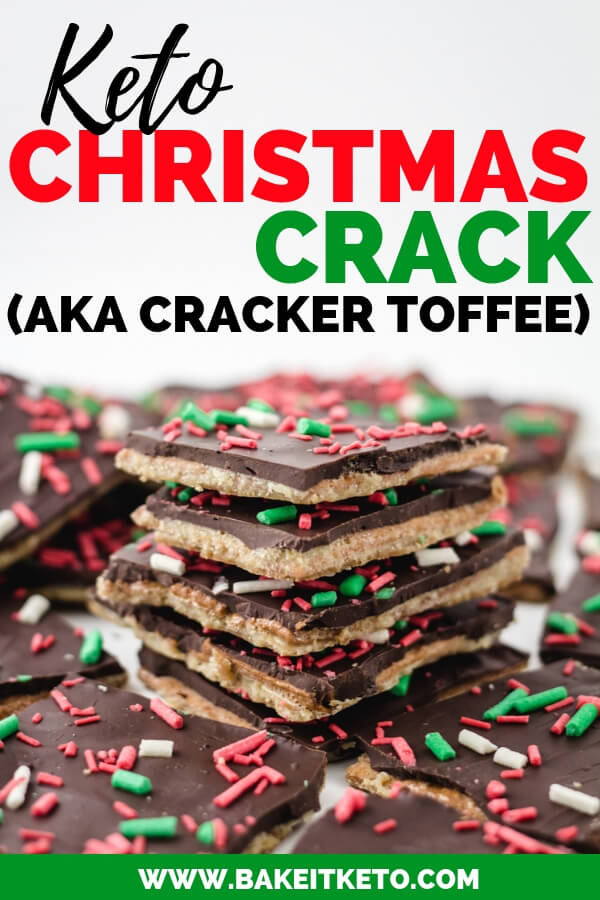 Keto Christmas Crack Cracker Recipe Toffee Pin