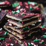 Keto Low Carb Christmas Crack Cracker Toffee