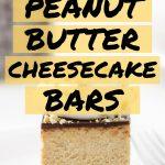 Keto Peanut Butter Cheesecake Bars Pin Image