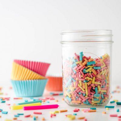 Keto Sugar Free Sprinkles Rainbow Sprinkles