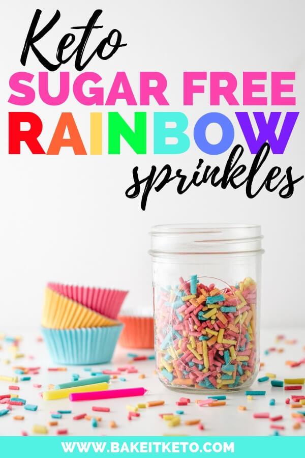 Keto Sugar Free Rainbow Sprinkles Recipe Pin