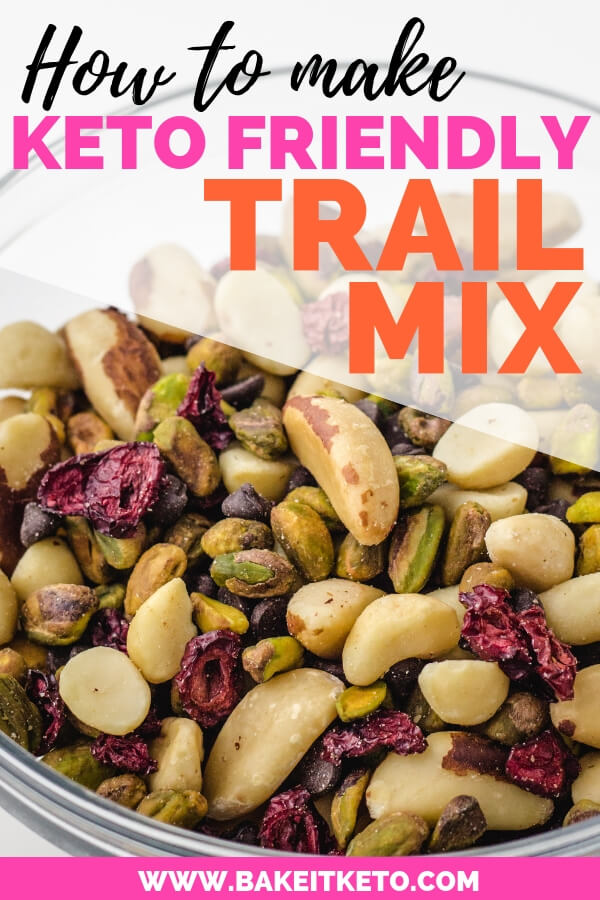How to make keto friendly trail mix with a low carb trail mix recipe!