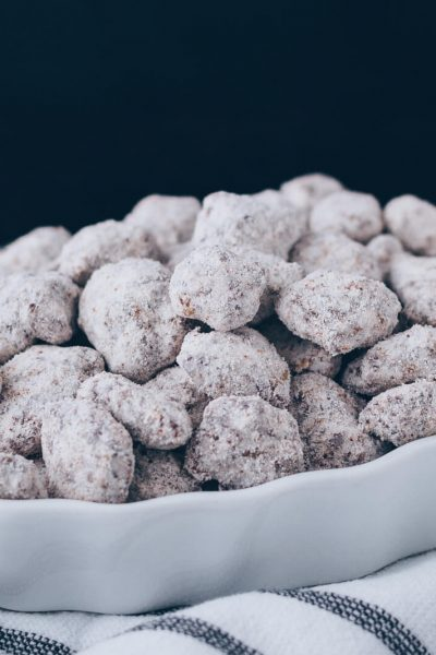 Low Carb Keto Puppy Chow aka Muddy Buddies in a dish