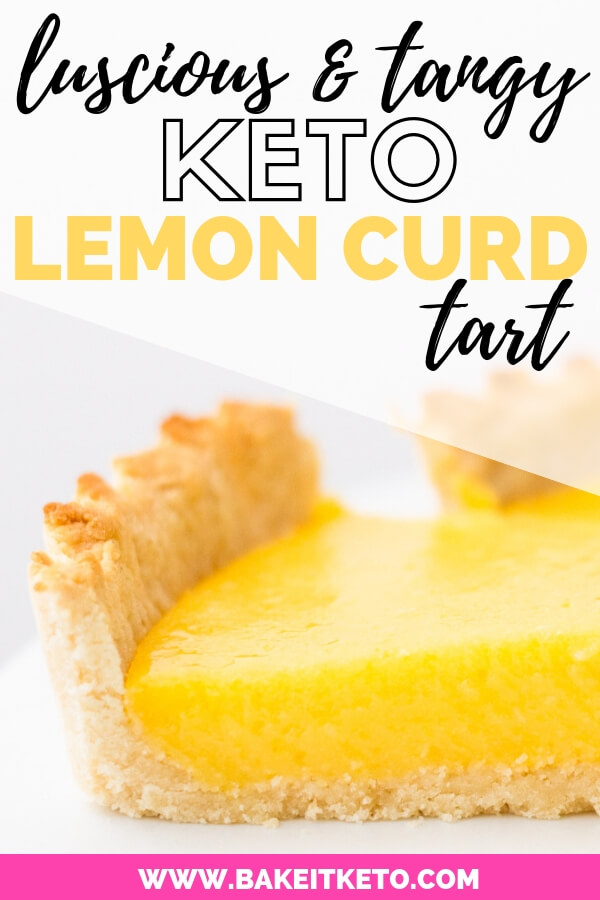luscious and tangy low carb lemon curd tart pin image
