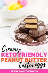 Make sugar free clean and healthy keto chocolate covered peanut butter copycat reeses eggs for Easter
