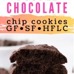 Keto double chocolate chip cookies with coconut flour