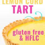 Keto lemon curd tart