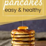 fluffy keto pancake recipe pin image