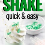 Copycat shamrock shake for the ketogenic diet