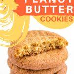 Low carb and keto chewy peanut butter cookies pin image 22920