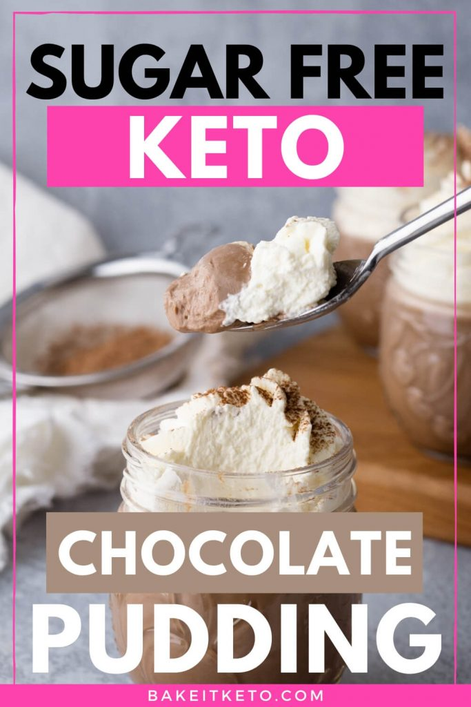 Keto Chocolate Pudding Pin Image