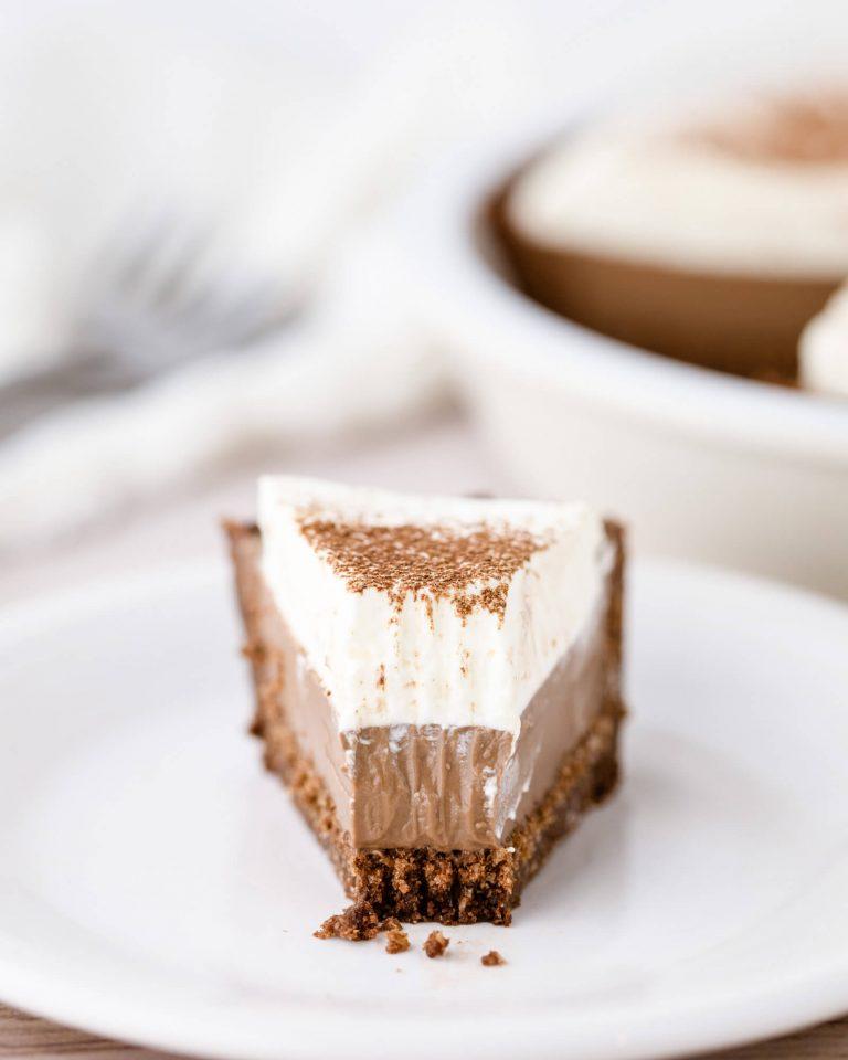 Silky Smooth Keto Chocolate Cream Pie