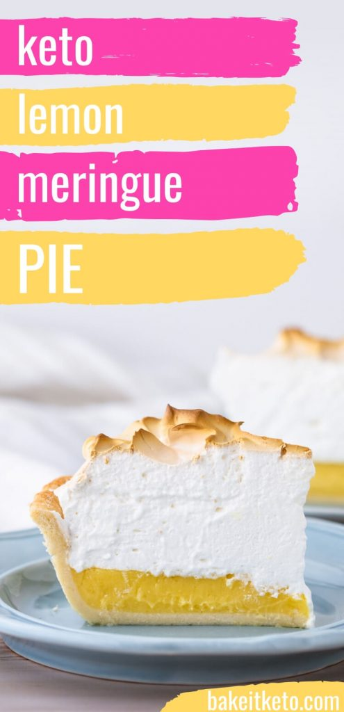 Sugar free keto lemon meringue pie pin image