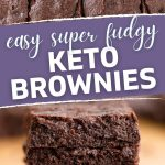 Keto Brownies Recipe Pin Image