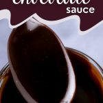 Jar of keto hot fudge sauce with text overlay: ultimate keto chocolate sauce